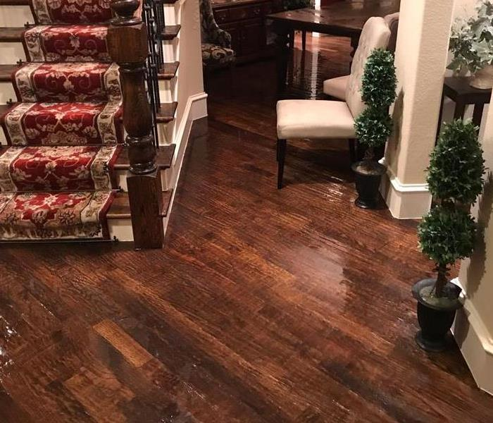 Standing water on hardwood floors