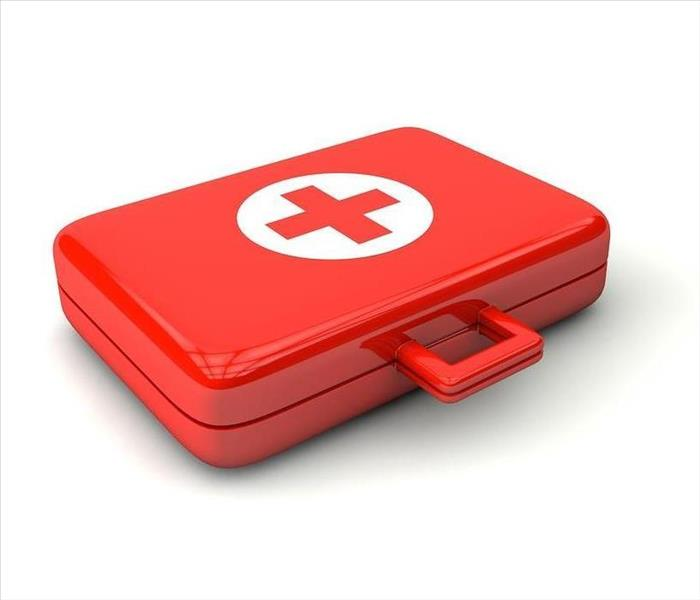 red emergency kit
