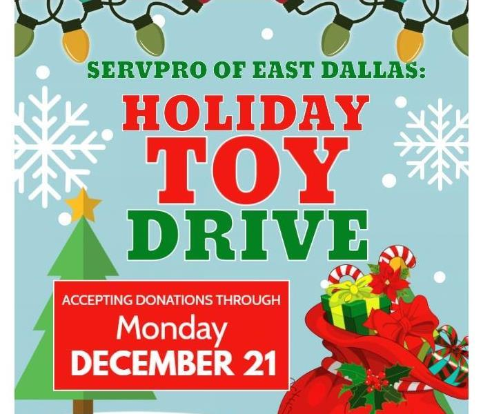 SERVPRO East Dallas Holiday Toy Drive Flyer