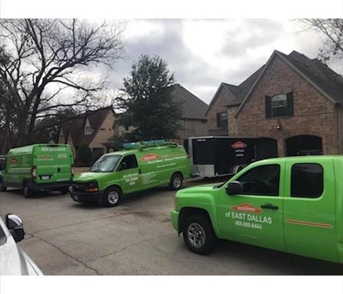 SERVPRO of East Dallas vehicles