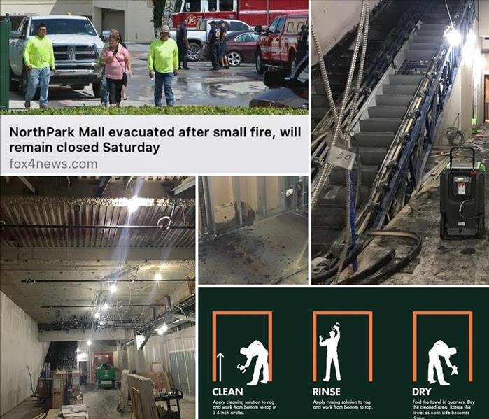 Collage of Northpark Fire Job